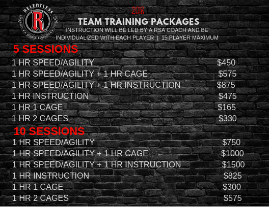 2018 TEAM PACKAGES
