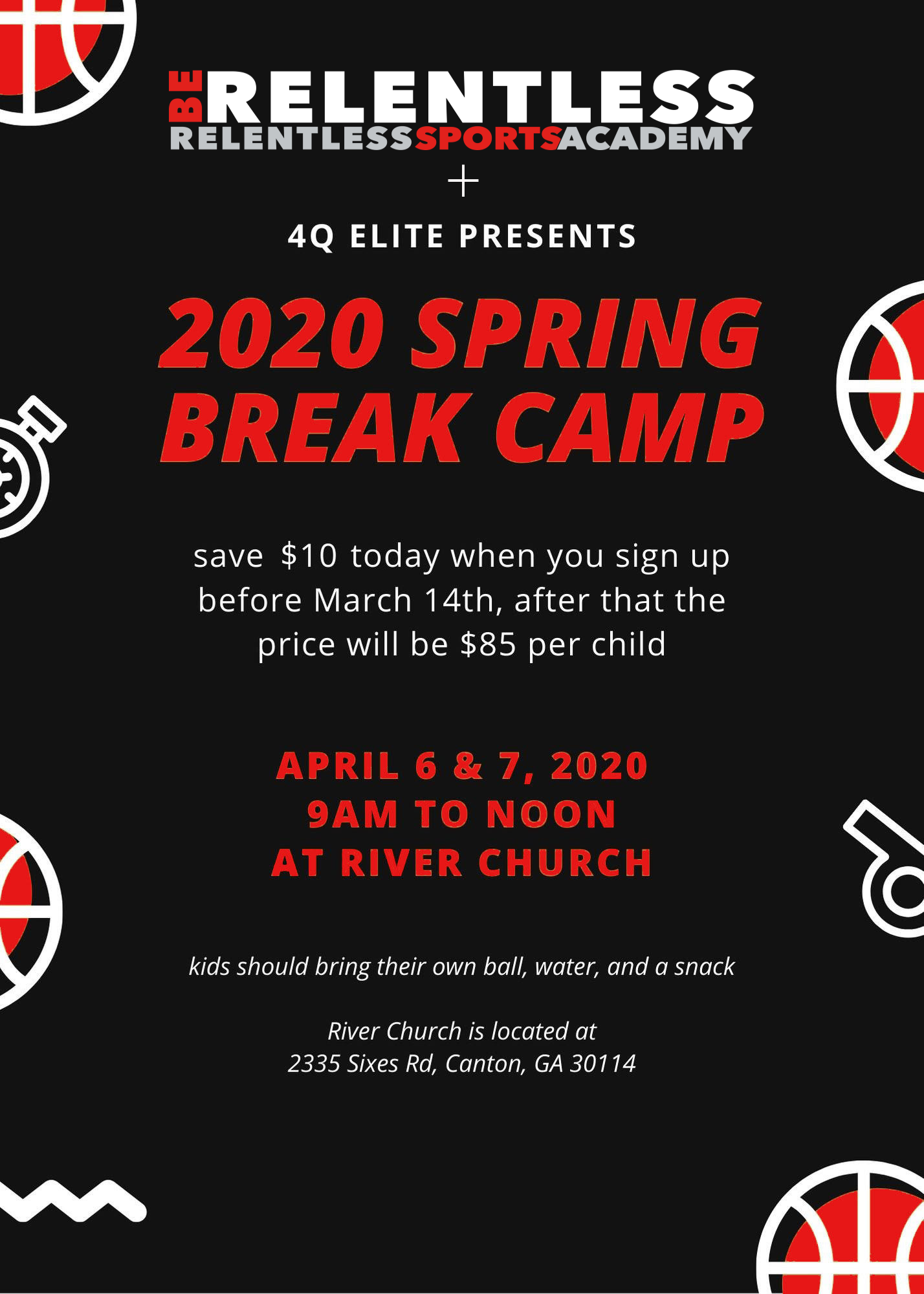 2020 Basketball Camp Spring Break